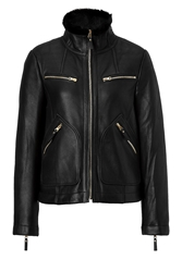 Marc By Marc Jacobs Hudson Leather Jacket In Black