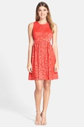 Plenty By Tracy Reese Alana Embroidered Mesh Fit And Flare Dress Pink