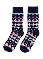 Happy Socks 'Temple' Tribal Multi Colour