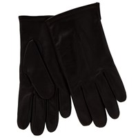 John Lewis Fleece Lined Leather Gloves Brown