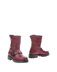 O Jour Ankle Boots Garnet