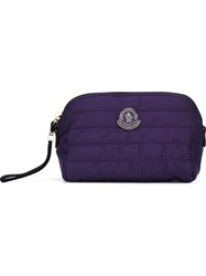 Moncler Quilted Make Up Bag Pink And Purple