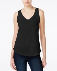 Maison Jules V Neck Tank Top Only At Macy's Deep Black