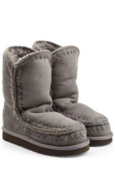 Mou Eskimo Short Sheepskin Boots Grey