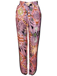 Red Soul Edora Printed Trousers Multi Coloured