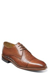 Stacy Adams Men's Madison Ii Cap Toe Derby Cognac