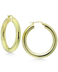 Giani Bernini Polished Tubular Hoop Earrings In 18K Gold Plated Sterling Silver Only At Macy's