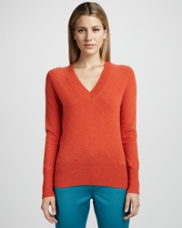 Neiman Marcus V Neck Cashmere Sweater Small 4
