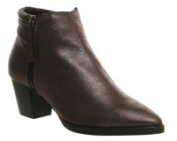 Office Feline Padded Zip Ankle Boots Pewter