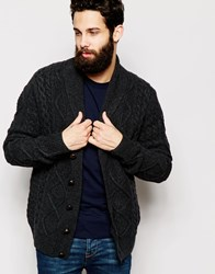 Barbour Cardigan With Cable Knit Grey