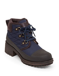 Lucky Brand Akonn Quilted Booties Navy Blue