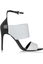 Mcq By Alexander Mcqueen Snake Effect Leather Sandals