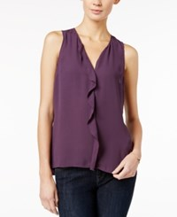 Maison Jules Ruffled Peplum Back Top Only At Macy's Plum Perfect