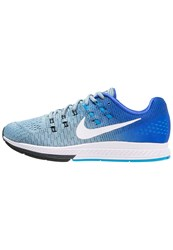 Nike Performance Air Zoom Structure 19 Stabilty Running Shoes Blue Grey White Racer Blue Blue Glow Black