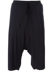 Lost And Found Ria Dunn Drawstring 'Over' Drop Crotch Short Black