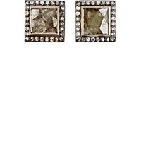 Nak Armstrong Women's Diamond Square Stud Earrings No Color