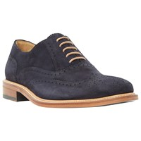 Dune Black Sunbeam Suede Lace Up Oxford Brogues Navy