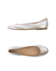 Belle By Sigerson Morrison Ballet Flats Silver