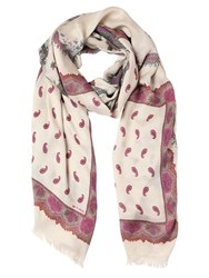 Etro Paisley Printed Cashmere Blend Scarf