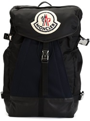 Moncler Logo Patch Backpack Black