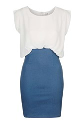 Daze Darker Denim Pencil Skirt By Wyldr Blue