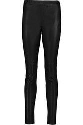 Rebecca Minkoff Sterne Leather Leggings Black