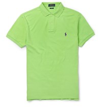 Polo Ralph Lauren Slim Fit Cotton Pique Polo Shirt Green