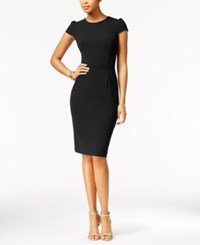 Betsey Johnson Puff Sleeve Scuba Dress Black