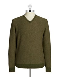 Hudson North Knit V Neck Sweater Dark Green