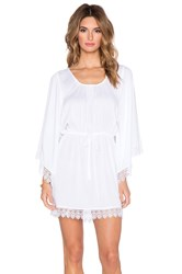 Band Of Gypsies Crochet Trim Mini Dress White