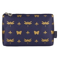 John Lewis Discover Basic Toilettries Pouch Navy And Gold