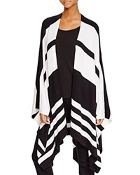 Dylan Gray Striped Blanket Cardigan Black Ivory