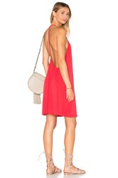Krisa Open Back Cami Dress Red