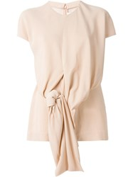 Marni Knot Detail T Shirt Blouse Nude And Neutrals