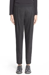 Women's Fabiana Filippi Wool Flannel Pleated Ankle Pants