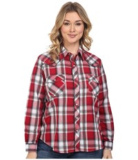 Roper Plus Size 0379 Red Black Plaid Red Women's Clothing