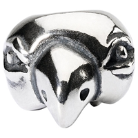 Trollbeads Sterling Silver Lucky Parrot Bead Silver