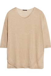 Theory Beylor Linen Blend Top Nude