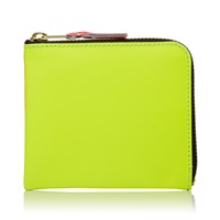 Comme Des Garcons Sa3100sf New Super Fluo Wallet Yellow And Orange