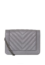 Hallhuber Quilted Chain Handle Bag Grey