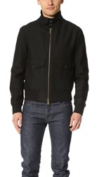 Ami Alexandre Mattiussi High Collar Zipped Jacket Black