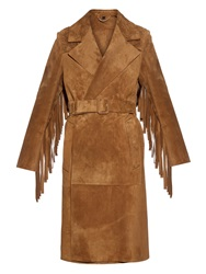 Burberry Fringed Suede Coat