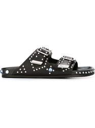Givenchy Studded Flat Sandals Black