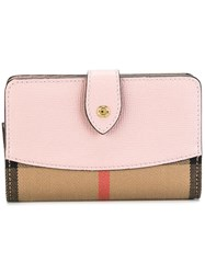 Burberry House Check Wallet Pink Purple