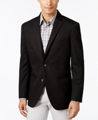 Alfani Men's Big And Tall Textured Geo Sport Coat Deep Black