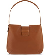 Dries Van Noten Pebbled Leather Shoulder Bag Tan