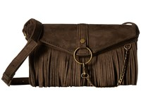 Steve Madden Bdalenna Flap Fringe Crossbody Olive Cross Body Handbags