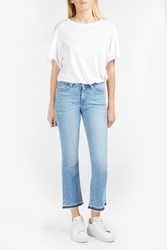 Derek Lam Mid Rise Cropped Flare Blue