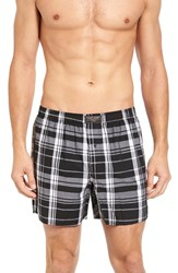 Polo Ralph Lauren Men's Cotton Boxers Monaco Black Plaid