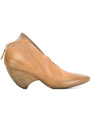 Marsell Curved Heel Pumps Brown